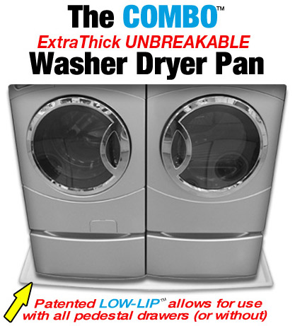 Combo washer and dryer pan